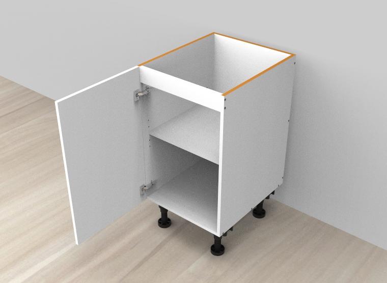 flat pack base cabinet single left door