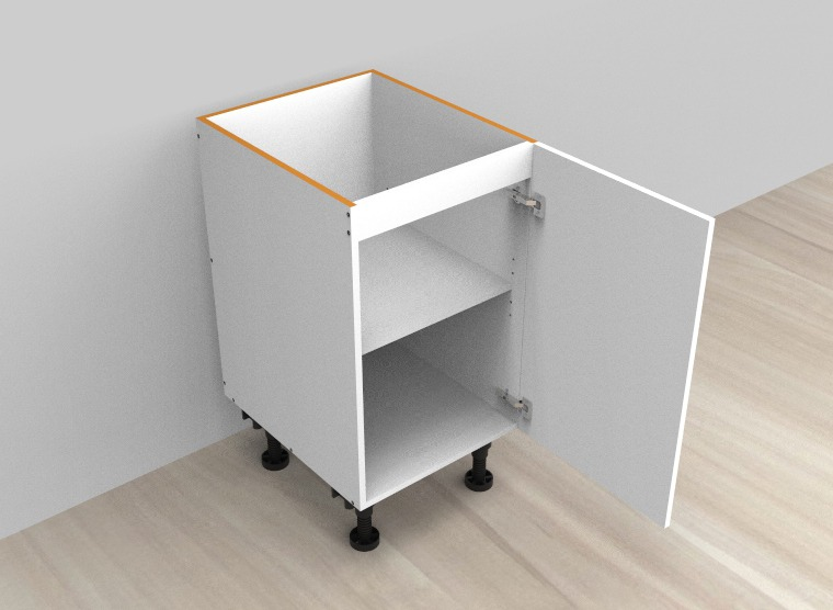 flat pack base cabinet single right door