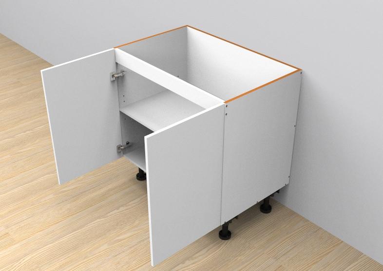 flat pack base cabinet double door