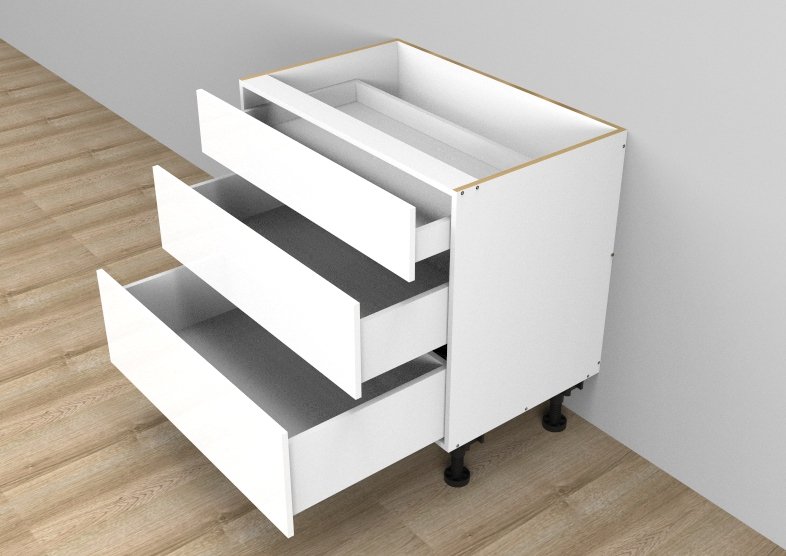 flat pack Standard 3 Drawers Single Cutlery Cabinet