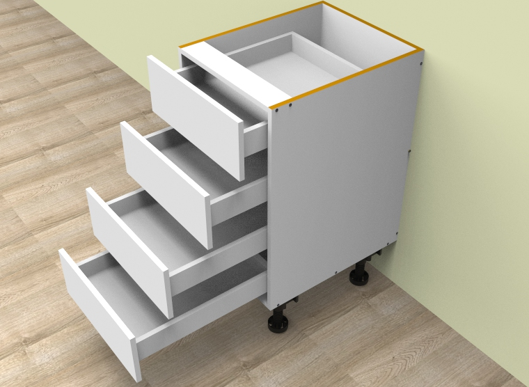 flat pack Standard 4 Drawers Cabinet