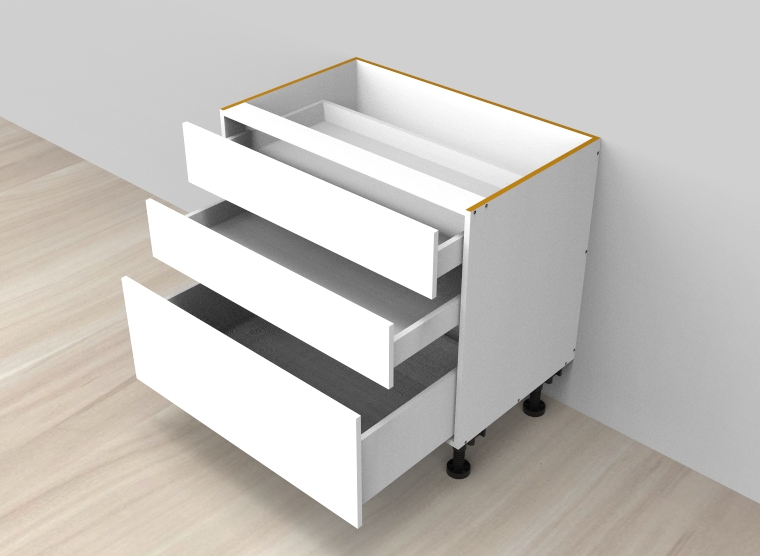 flat pack Standard 3 Drawers Double Cutlery Cabinet