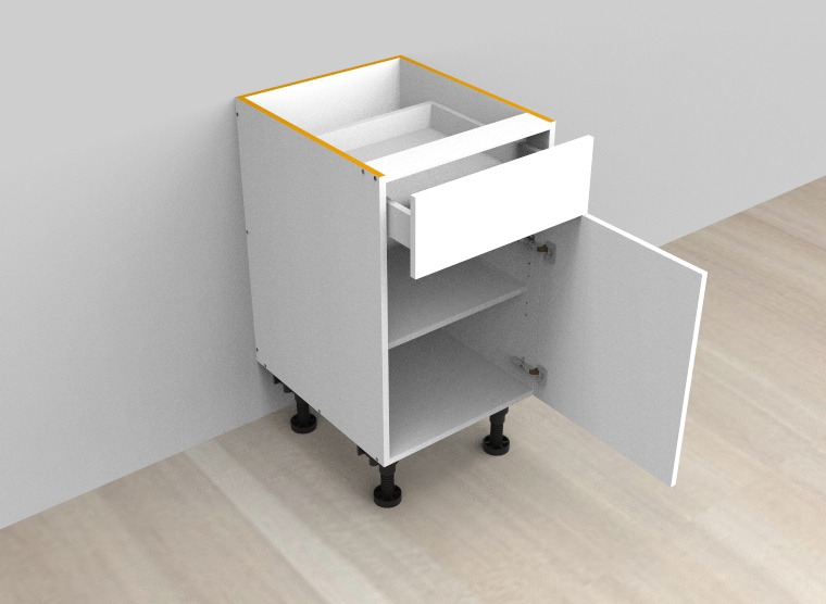 flat pack Single Drawer Single Right Door Cabinet