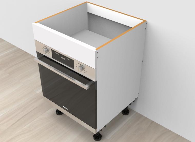 flat pack Base Oven 600mm Cabinet