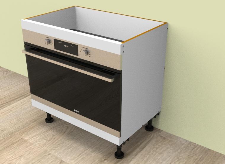 flat pack Base Oven 900mm Cabinet