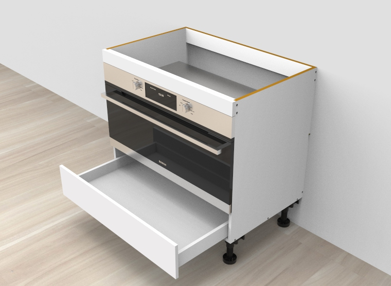 flat pack Base Oven 900mm Cabinet With Drawer