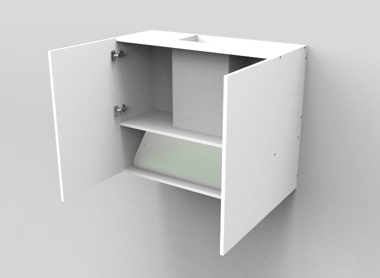 flat pack Top Concealed Rangehood -Double Door Cabinet