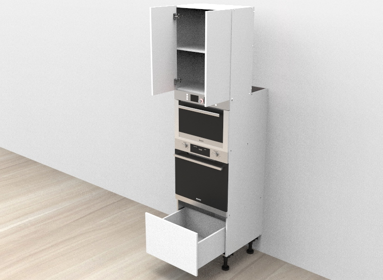 flat pack Tower Single Oven Cabinet