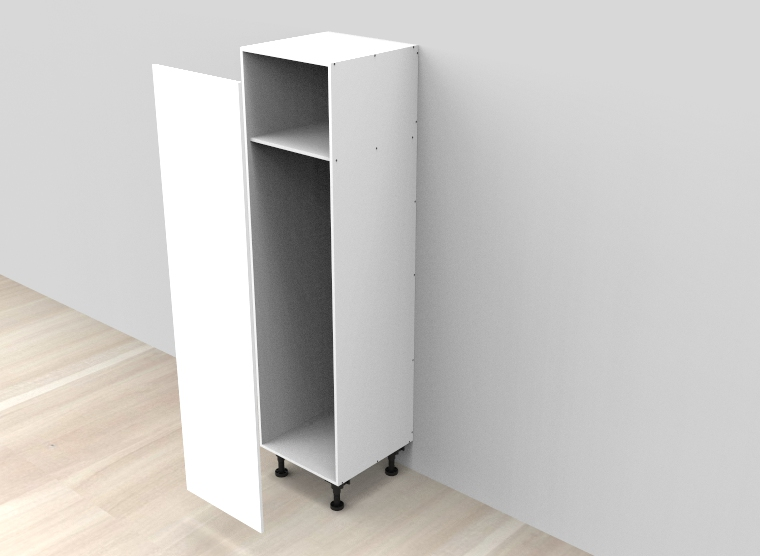 flat pack Tall Pull-Out Pantry Cabinet