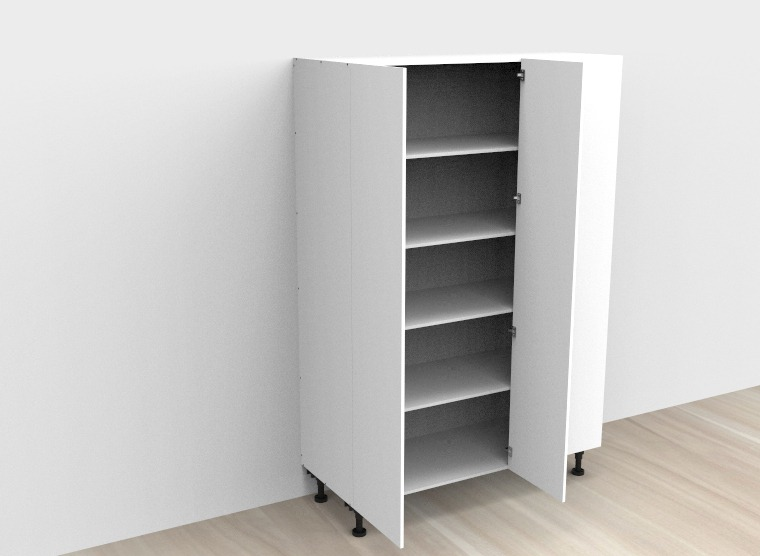 flat pack Tall Blind Double Door Left Corner Cabinet