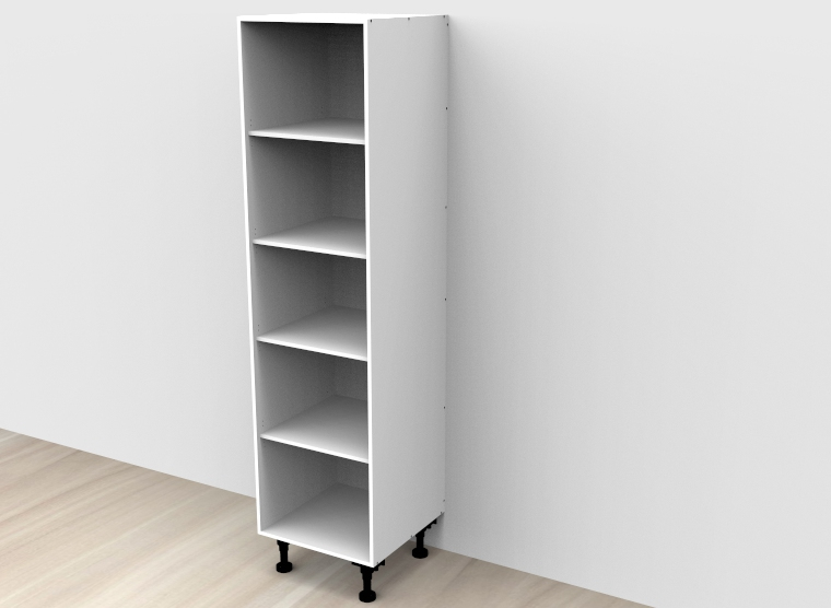 flat pack Tall Open Shelf Cabinet