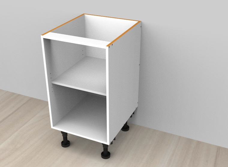 flat pack Open Shelf Floor Vanity - Adjustable Shelf