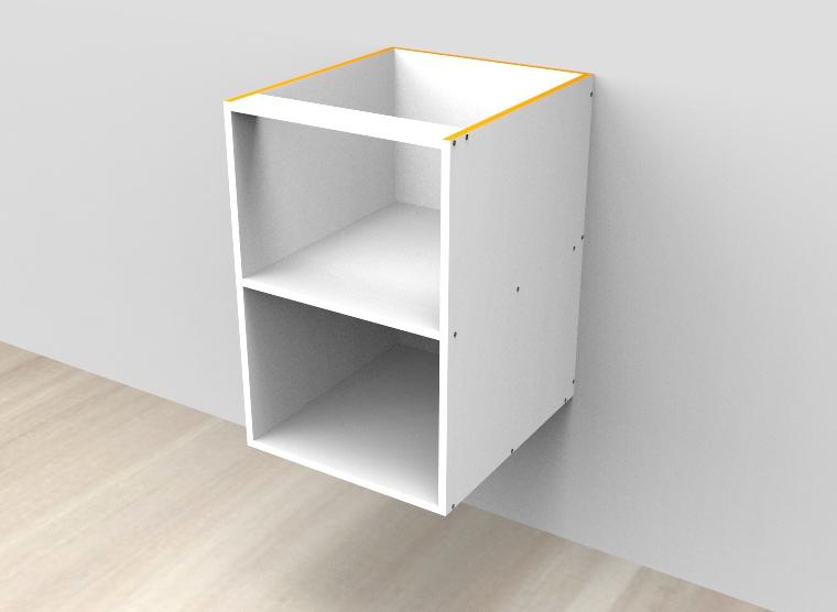 flat pack Open Shelf Wall Hung Vanity - Fix Shelf