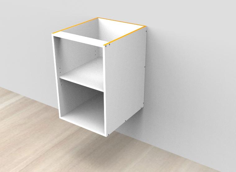 flat pack Open Shelf Wall Hung Vanity - Adjustable Shelf