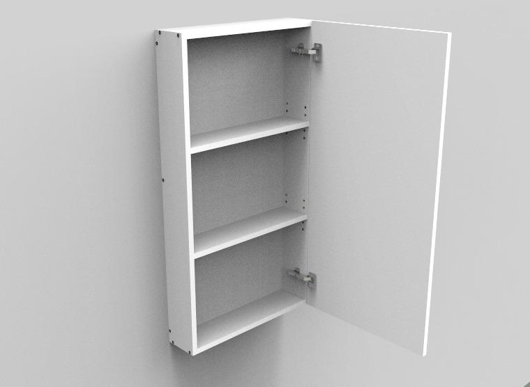flat pack Single Right DoorShaving Cabinet