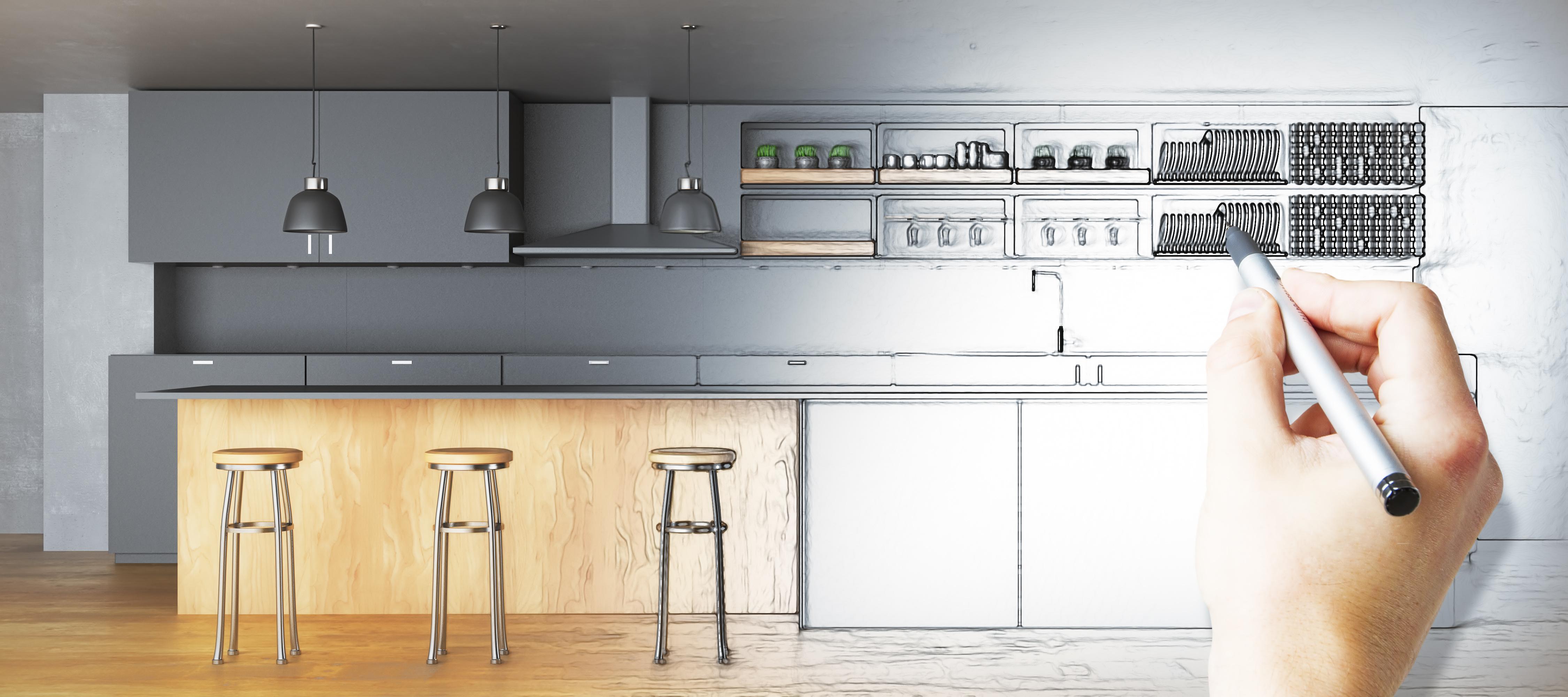 flat pack kitchen design