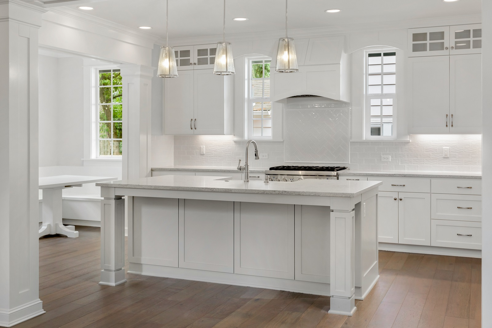 shaker kitchen with flat pack cabinets
